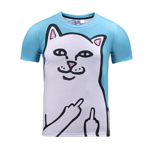 Blue Troll Cat Tee