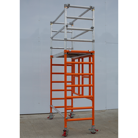 Fold Easy Mobile Scaffold Work Platform - 750mm Wide, Powder Coated Unit