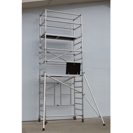 Fold Easy, Mobile Scaffold Tower - 4m Work Platform, Aluminum Unit