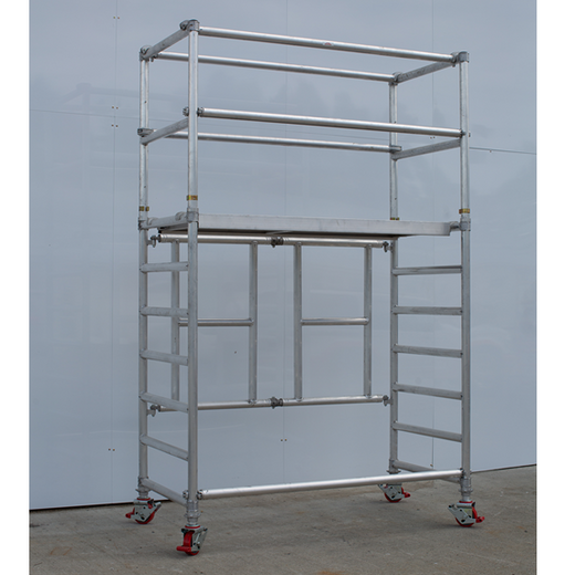 Fold Easy Mobile Scaffold Work Platform - 850mm Wide, Aluminum Unit