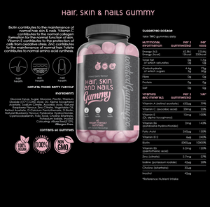 Health benefits of the Hair, Skin & Nails Gummy