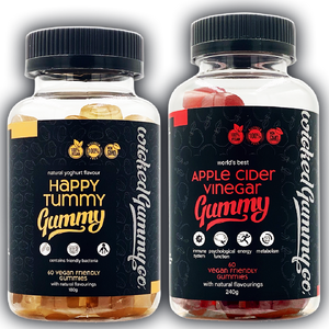 Bloat Buster Bundle - Apple Cider Vinegar and Happy Tummy Probiotic Gummies