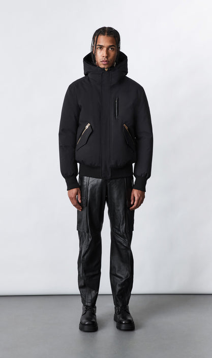 MACKAGE DIXON-BX - down bomber with removable hooded bib & fox fur