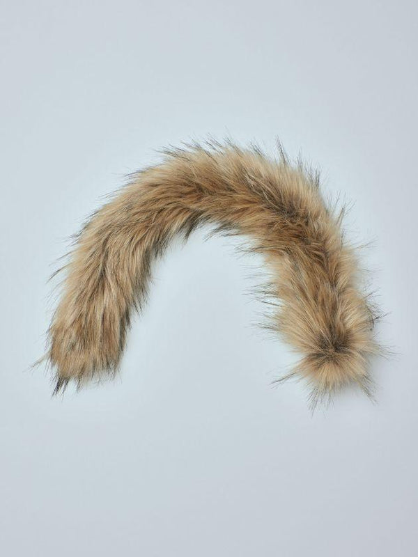 KANUK BEIGE SYNTHETIC FUR WITH ZIPPER - Boutique Bubbles