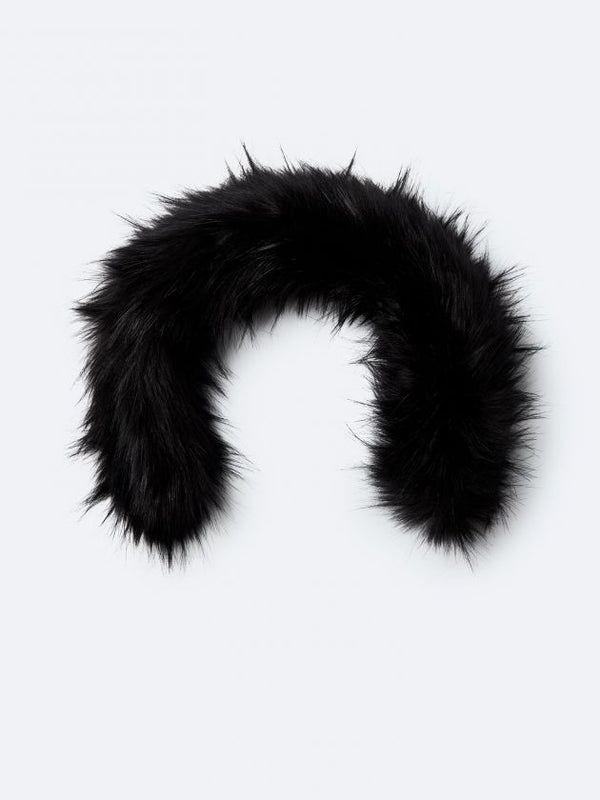 KANUK BLACK SYNTHETIC FUR WITH ZIPPER - Boutique Bubbles