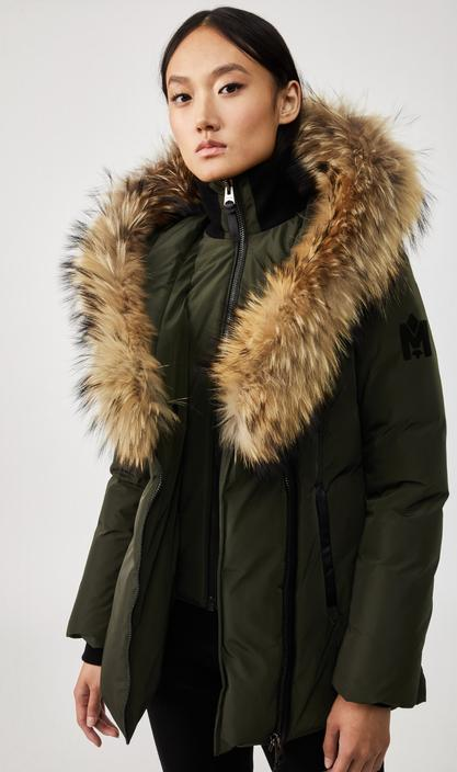 MACKAGE ADALI - down coat with signature natural fur collar - Boutique Bubbles