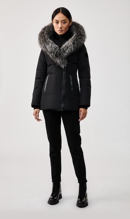 MACKAGE ADALI-X - down coat with signature silverfox fur collar - Boutique Bubbles