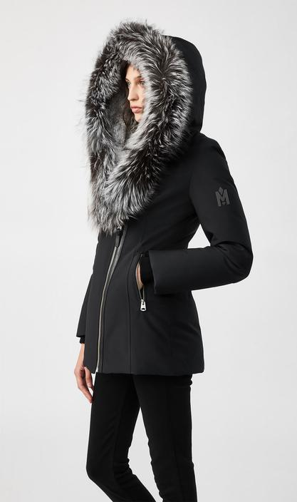 MACKAGE AKIVA-X - down coat with silverfox fur trimmed hood - Boutique Bubbles