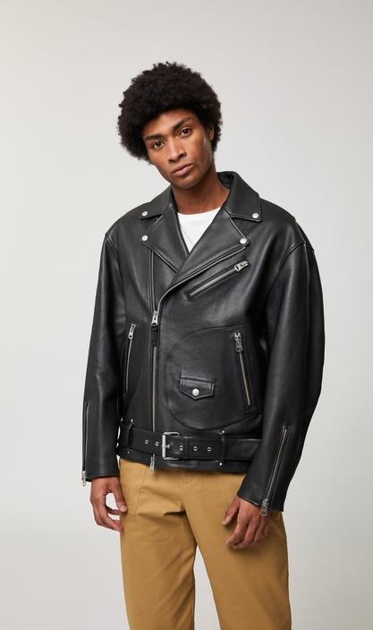 MACKAGE CLEMENT - oversized belted leather biker jacket - Boutique Bubbles