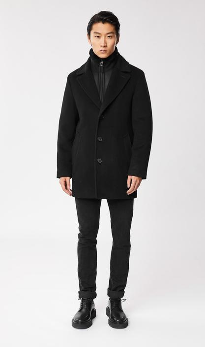 MACKAGE DILLON - wool topcoat with removable sheepskin bib - Boutique Bubbles