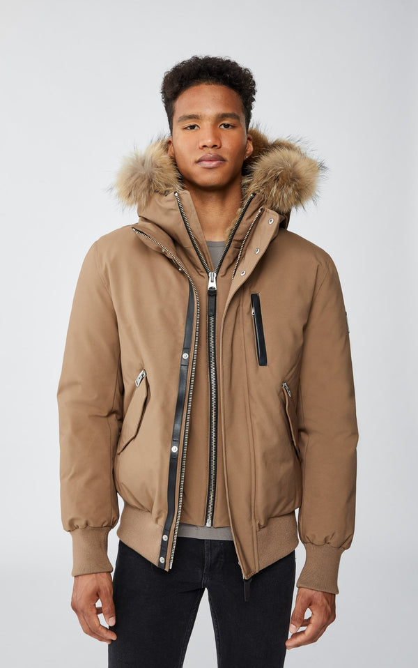 MACKAGE DIXON - down bomber with removable hooded bib & fur trim - Boutique Bubbles