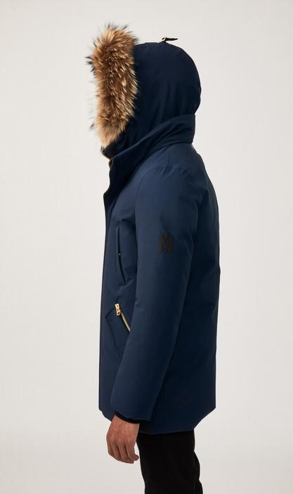 MACKAGE EDWARD-F - down coat with removable hooded bib & fur trim (WITH LOGO ON THE LEFT SLEEVE) - Boutique Bubbles