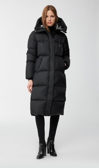 MACKAGE ELIANE - foil shield maxi down coat with pillow collar - Boutique Bubbles