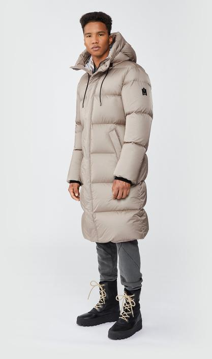 MACKAGE ELIO - foil shield maxi down coat with pillow collar - Boutique Bubbles