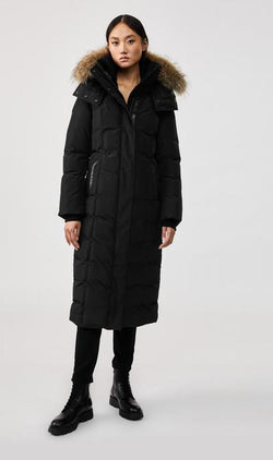 MACKAGE JADA - maxi length down coat with removable natural fur trim - Boutique Bubbles