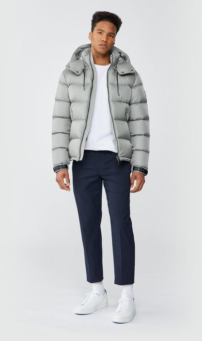 MACKAGE JONAS - foil shield down jacket with removable hood - Boutique Bubbles