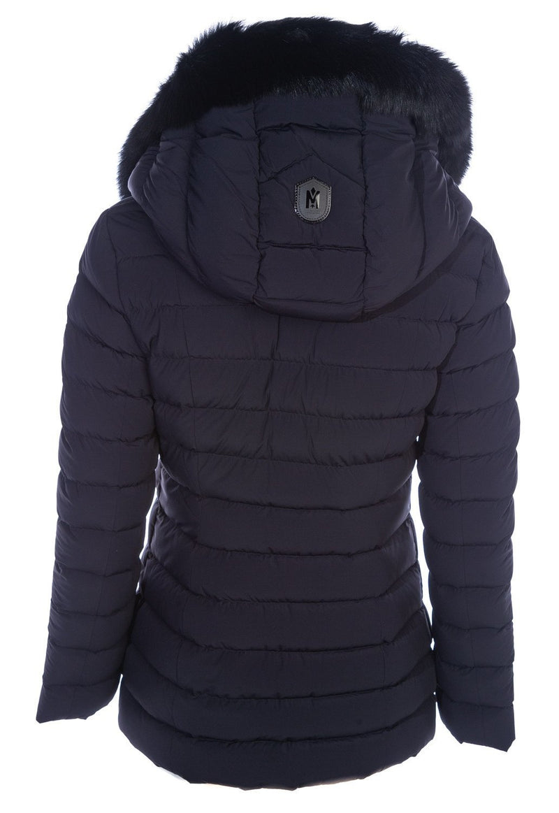 MACKAGE KADALINA-BX - down jacket with signature silverfox fur collar - Boutique Bubbles