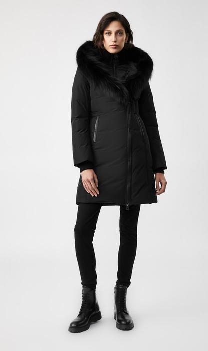 MACKAGE KAY-BX-down coat with signature silverfox fur collar - Boutique Bubbles