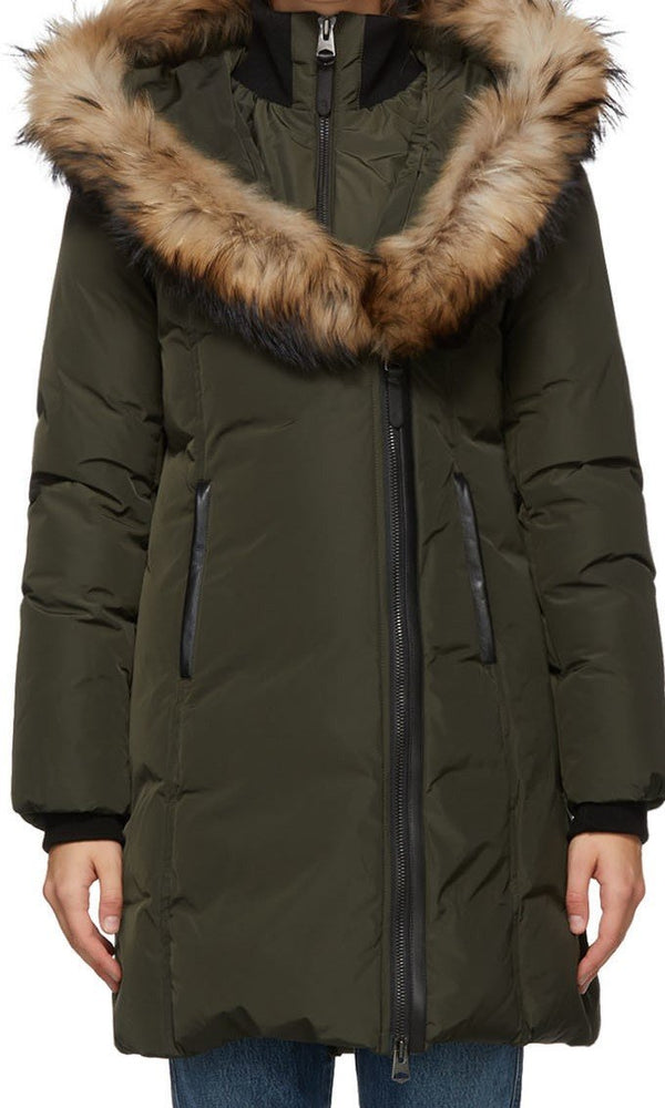 MACKAGE KAY - down coat with signature natural fur collar - Boutique Bubbles