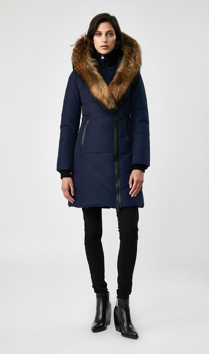 MACKAGE KAY-R - down coat with signature natural fur collar (WITHOUT LOGO ON THE LEFT SLEEVE) - Boutique Bubbles