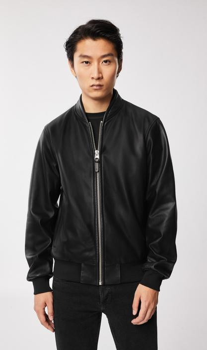 MACKAGE KELVIN - leather bomber jacket - Boutique Bubbles
