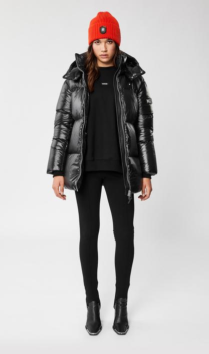 MACKAGE KENDRA oversized down coat with sleeve logo - Boutique Bubbles