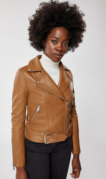 MACKAGE KYLIE - leather moto jacket with removable belt - Boutique Bubbles