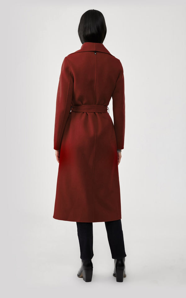 MACKAGE MAI - double-face wool coat with waterfall collar - Boutique Bubbles