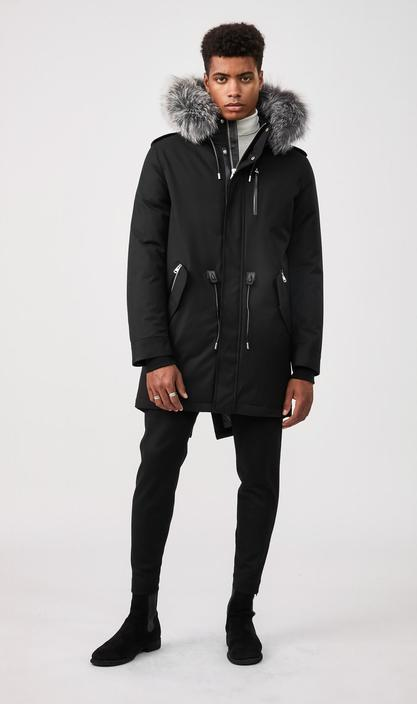 MACKAGE MORITZ-DX - down parka with removable silverfox fur trim - Boutique Bubbles