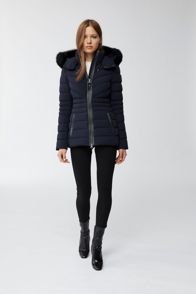 MACKAGE PATSY-BX - down jacket with removable silverfox fur trim - Boutique Bubbles