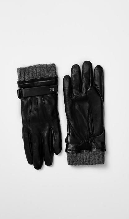 MACKAGE - REEVE leather glove with wool-cashmere lining - Boutique Bubbles