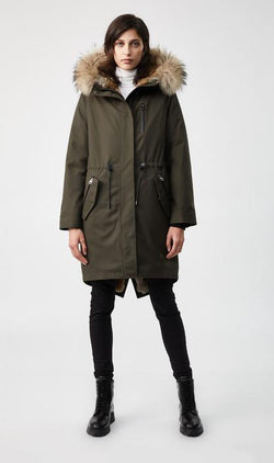 MACKAGE RENA-fur-lined parka with removable natural fur trim - Boutique Bubbles