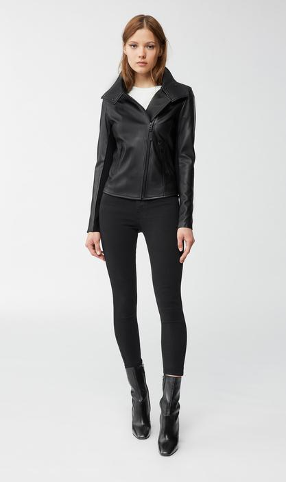 MACKAGE SANDY - leather jacket with asymmetrical zip - Boutique Bubbles