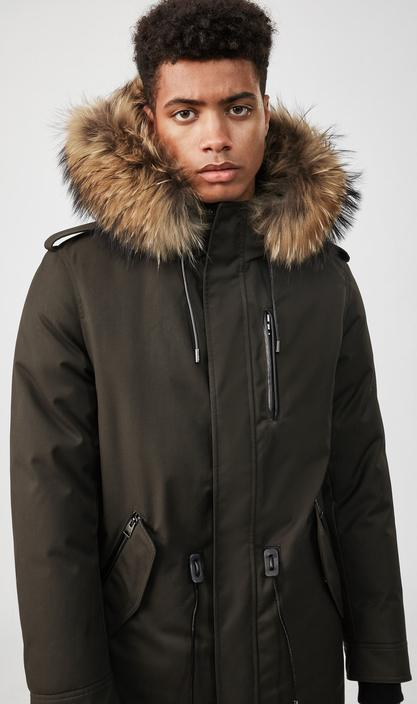 MACKAGE SETH-D - down military parka with natural fur trim - Boutique Bubbles