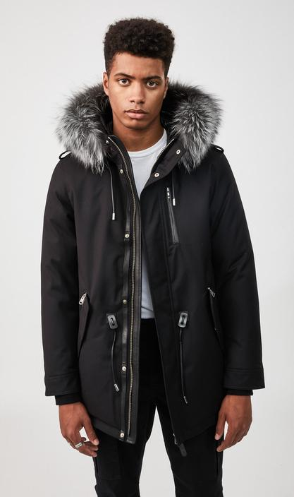 MACKAGE SETH-DX - down military parka with silverfox fur trim - Boutique Bubbles