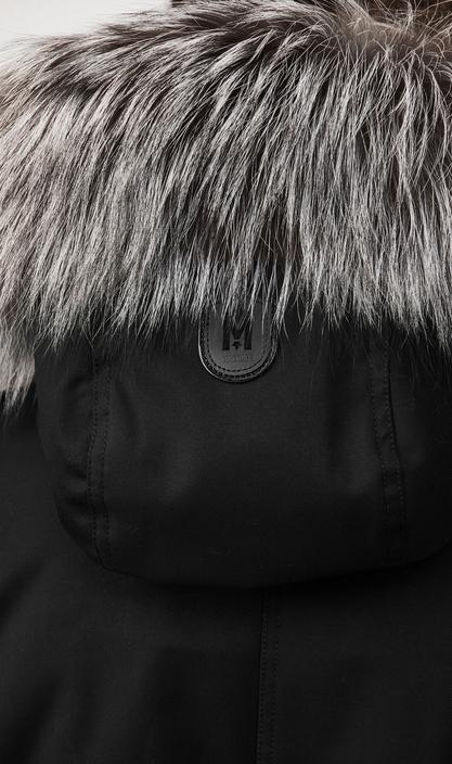 MACKAGE SETH-X - fur-lined military parka with removable silverfox fur - Boutique Bubbles