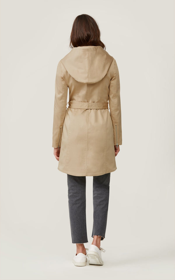 SOIA&KYO ARABELLA - water-repellent trench coat with hood - Boutique Bubbles