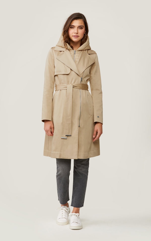 SOIA&KYO ATHIE - trench coat with removable hood and bib - Boutique Bubbles