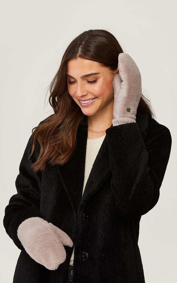 SOIA&KYO BEATE - polar fleece lined faux Sherpa mittens - Boutique Bubbles
