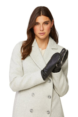 SOIA&KYO BETRICE - faux fur lined leather mittens - Boutique Bubbles