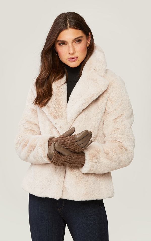 SOIA&KYO CARMEL - leather gloves with knit lining - Boutique Bubbles
