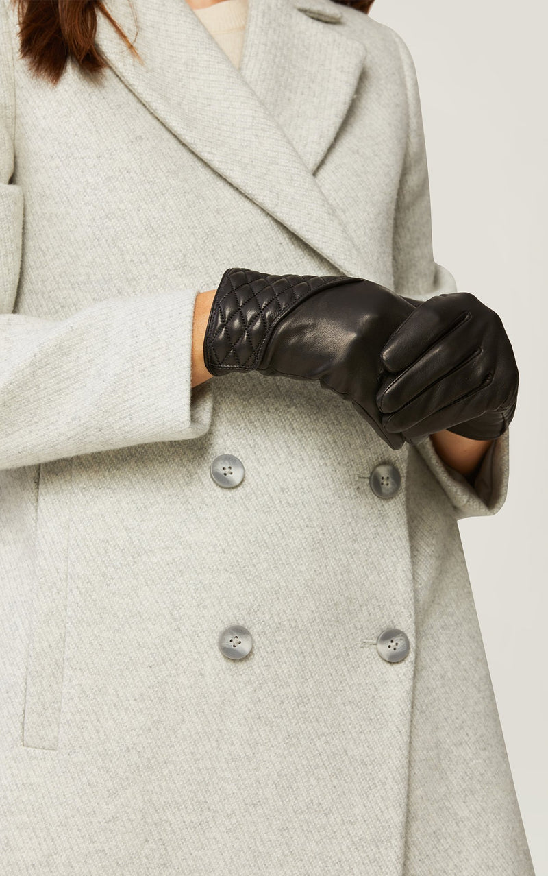 SOIA&KYO CLAUDEAN - quilted leather gloves with tech-friendly tips - Boutique Bubbles
