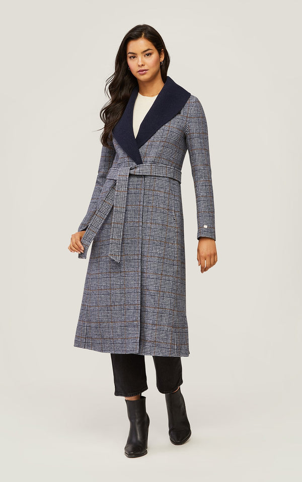 SOIA&KYO ELEONORE P - plaid calf-length double-face wool coat - Boutique Bubbles