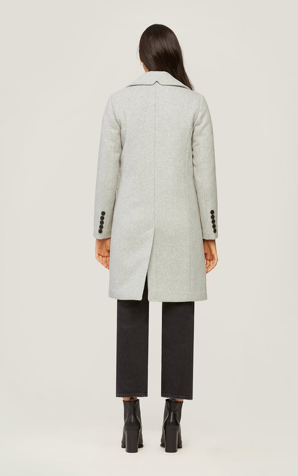 SOIA&KYO EVETTE - classic wool coat with quilted puffer lining - Boutique Bubbles