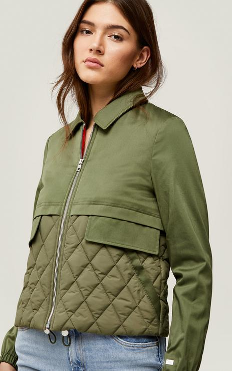 SOIA&KYO - LORI mixed media water-repellent jacket with Thermolite fill - Boutique Bubbles