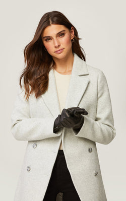SOIA&KYO MEENA - cuffed leather gloves with tech-friendly tips - Boutique Bubbles