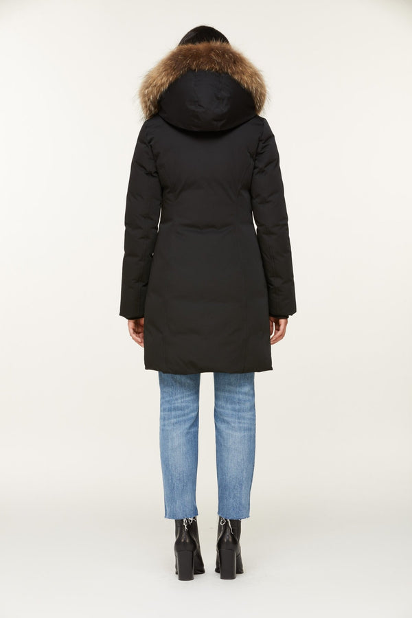 SOIA&KYO SALMA - classic down coat with removable natural fur - Boutique Bubbles