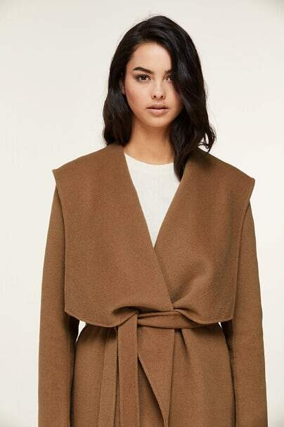 SOIA&KYO SAMIA - double-face wool coat with hood - Boutique Bubbles
