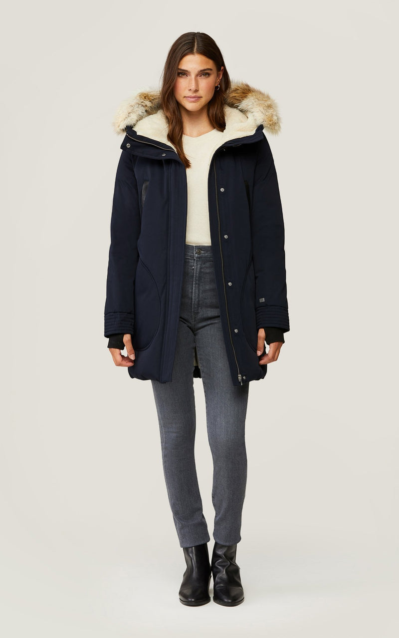 SOIA&KYO SAUNDRA - mid-length classic down coat - Boutique Bubbles