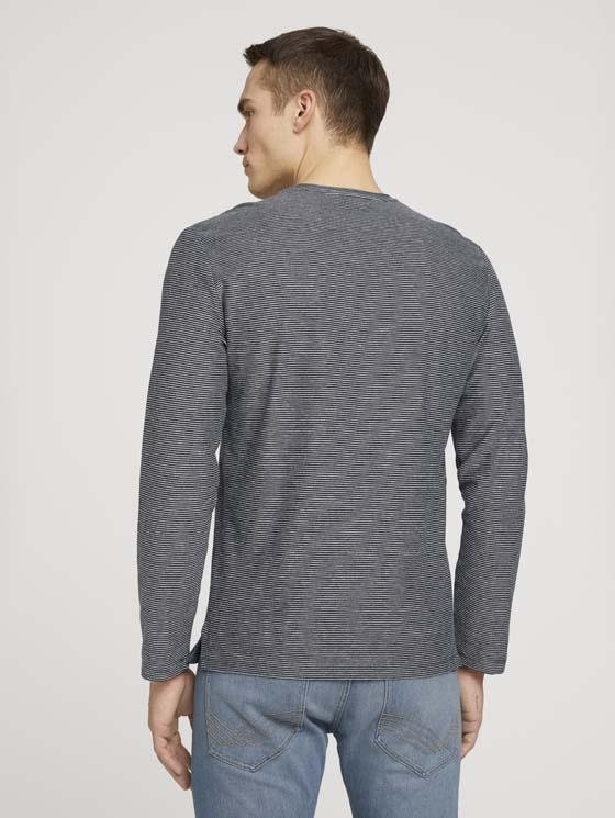TOM TAILOR - Structured stripe longsleeve - Boutique Bubbles